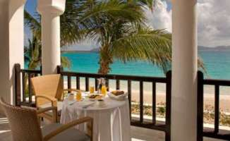 Continental Breakfast Served on the Terrace at Cap Juluca